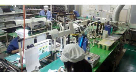 安定供給のための生産ライン